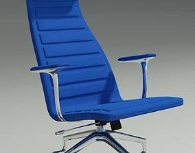Lotus blu fabric armchair 3D