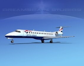 Embraer ERJ-140 British Airways 3D model