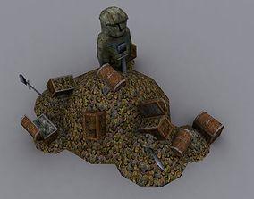 3D model draft treasure