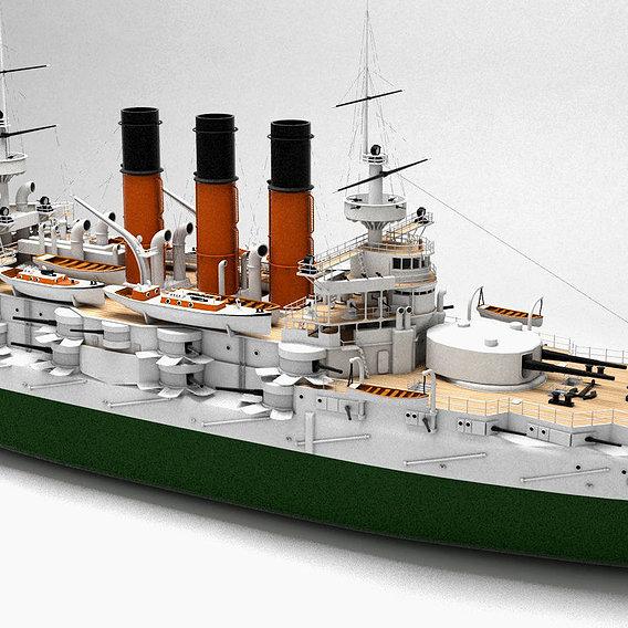 battleship of the Russian fleet Retvizan