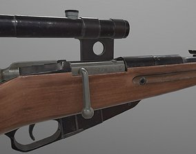 Rifle of Mosin PBR 3D asset realtime