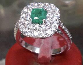 BIG Emerald Ring 3D print model anello cestino an243 3D