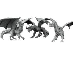rpg 3D print model 3 dragons