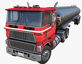 Industrial cabover tanker semitruck 3D model