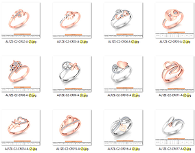 86 Wedding Engagement Women Rose Ring stl 3D print model