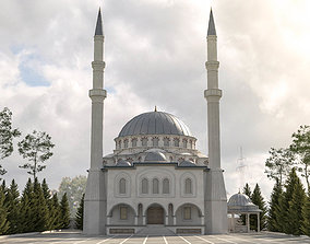 low-poly mosque 3d model