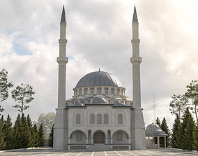 mosque 3d model game-ready
