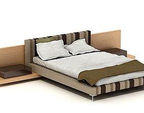 Striped Modern Bed 3D
