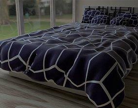 Modern Designer Bed soft 3D
