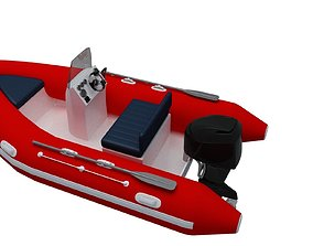 Speed Boat 3D model animated