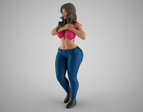 3D printable model Woman Holding her Heart