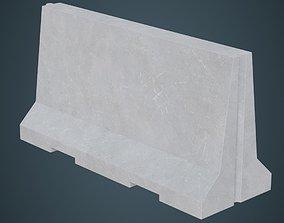 3D model Concrete Barrier 3A