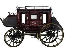 3D model Abbott Downing Stage Coach