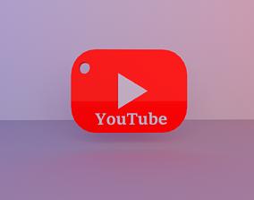 YouTube keychain 3D print model