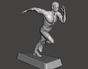 Runner 3D model sportsman