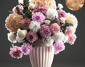 3D model Bouquet of spring flowers