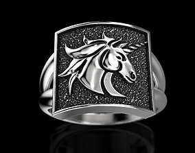 3D printable model Unicorn ring