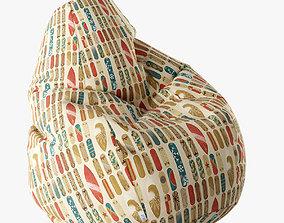 Bean Bag Chair 3D playroom