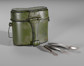 Mess kit for Army 3D model