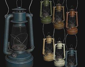 3D asset low-poly Old Painted Kerosene Lamp - 6 colors