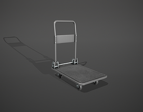 Folding Platform Truck Trolley - Grey 3D asset