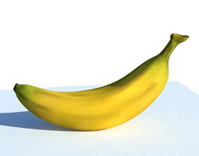 Low poly banana 3D asset