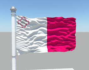Malta flag 3D