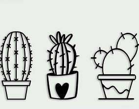fruit Cactus Wall Decoration For 3D Printer
