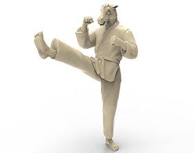 Horse Front kick 3D print model