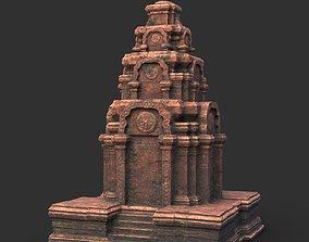 Low poly Ancient Temple 01 3D asset