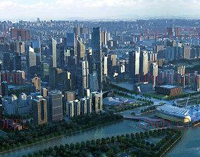 Guangzhou City in China 3D