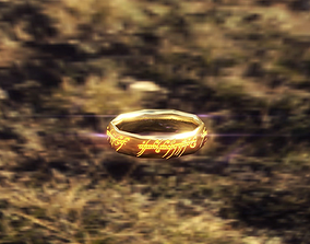 The One Ring - Low Poly 3D asset