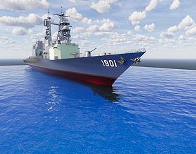 3D printable and Scalable War Ship sea
