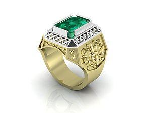 Mens Antique Ring 3D printable model