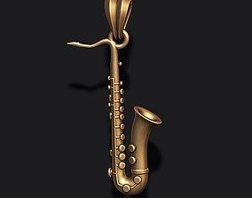 3D print model Saxophone pendant