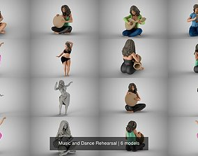 3D model Music and Dance Rehearsal beautiful