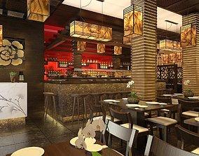 3D asset Japanese Restaurant Interior