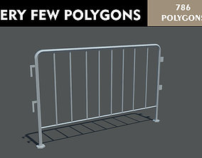 Safety Barrier 3D model game-ready
