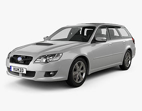 Subaru Legacy station wagon 2008 3D