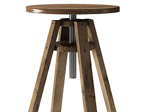 Bar Stool Chair Modern 3D model retro