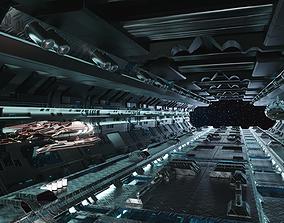 Technology space shuttle tunnel 3D model