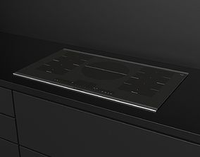 3D model Bosch Induction Cooktop 800 Series