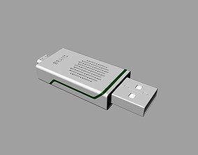 electronics 3D printable model Grey and green OTG U Disk C