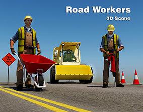 Road Workers Scene 3D model