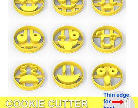 COOKIE CUTTER 9 EMOJI PACK 3D printable model smile
