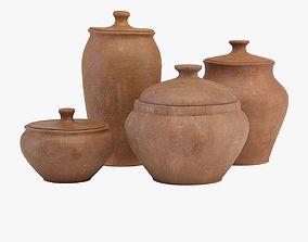 Tableware clay 3D model