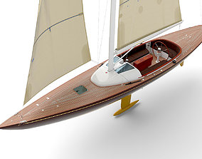 3D Leonardo yacht Eagle 44 BROWN
