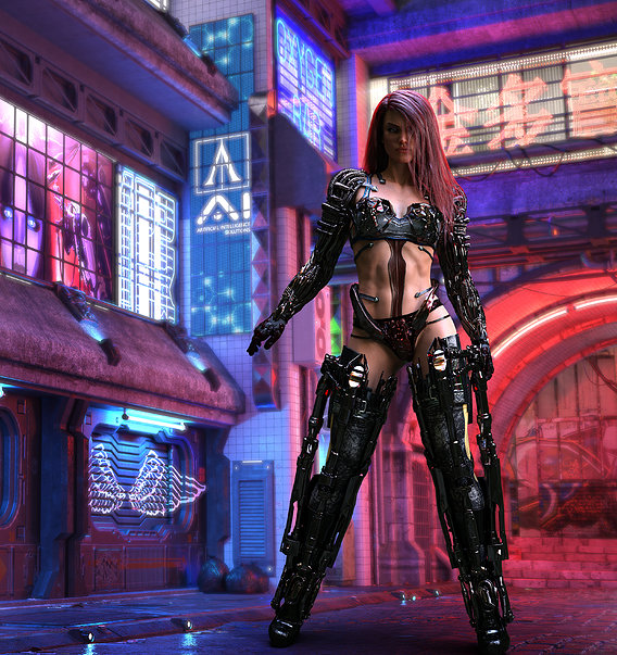 Power Armor and Character ver 3 (Cyberpunk Exo-kini)