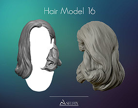 3D print model Hairstyle 16