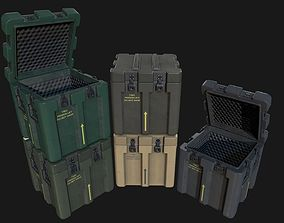Low Poly PBR Military Crate 2 3D model